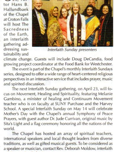 Chapel Interfaith Article '17